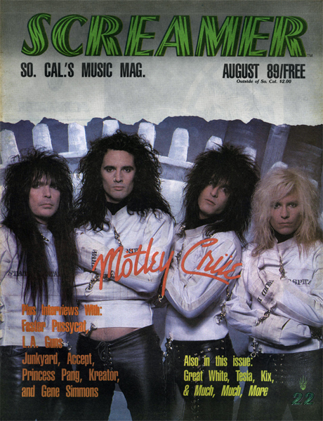 Screamer Magazine August 1989