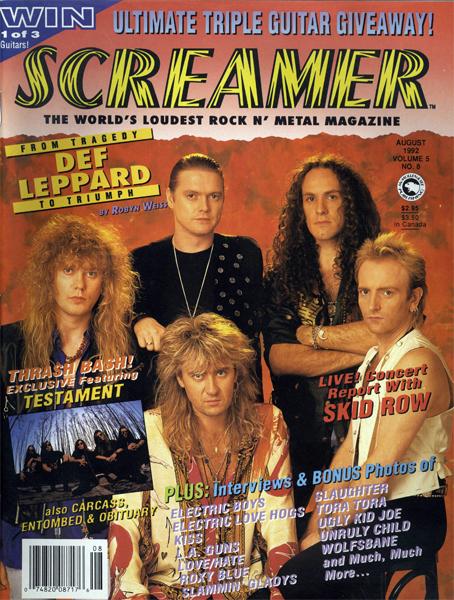 Screamer Magazine August 1992