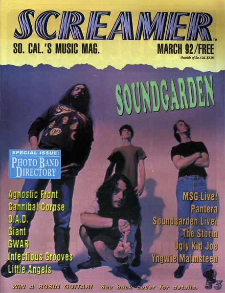 Screamer Magazine March 1992