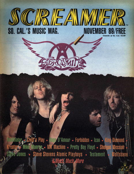 Screamer Magazine November 1989