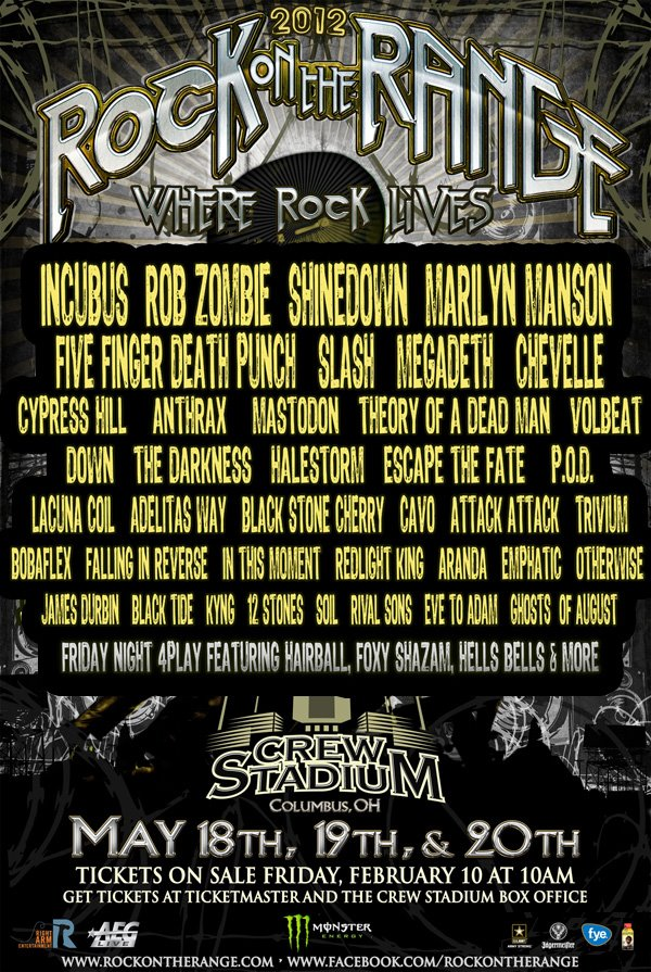 rock on the range performance times announced screamer magazine. Black Bedroom Furniture Sets. Home Design Ideas