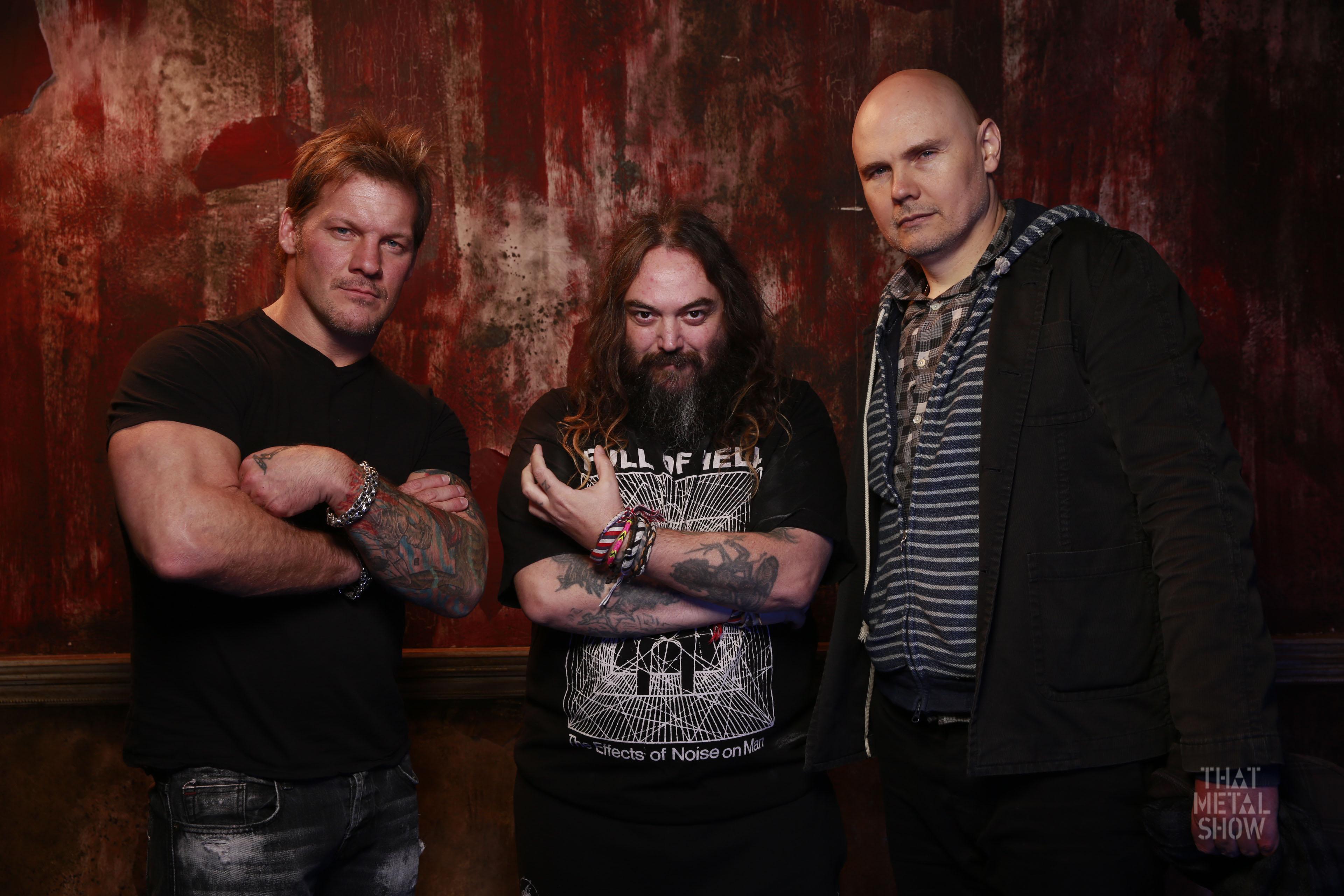 chris jericho max cavalera billy corgan on latest episode of that metal show screamer. Black Bedroom Furniture Sets. Home Design Ideas